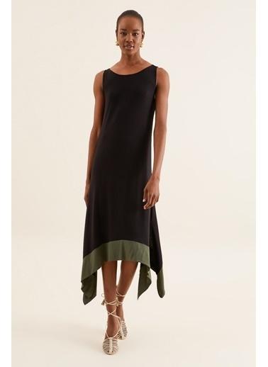 Quincey Asimetrik Elbise Siyah